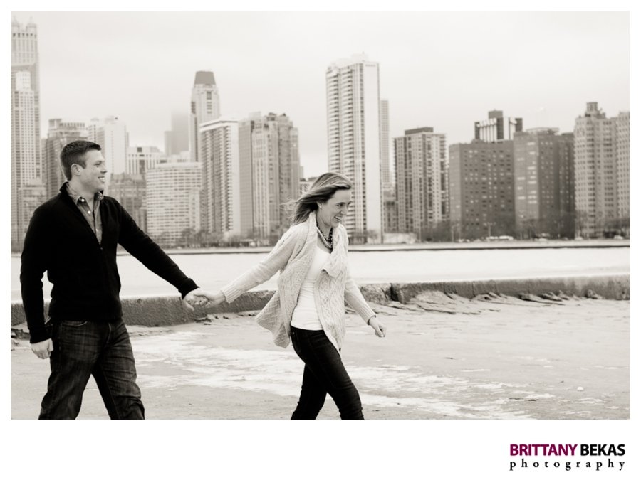 North Ave Beach Engagement - Brittany Bekas Photography