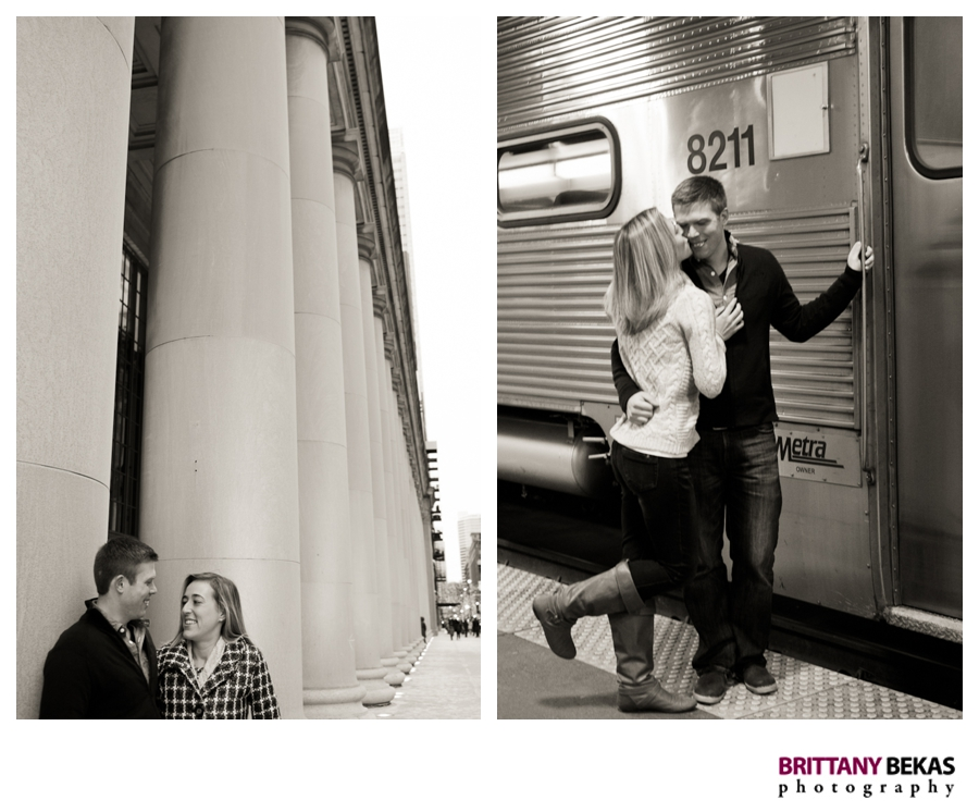 Union Station Chicago Engagement - Brittany Bekas Photography
