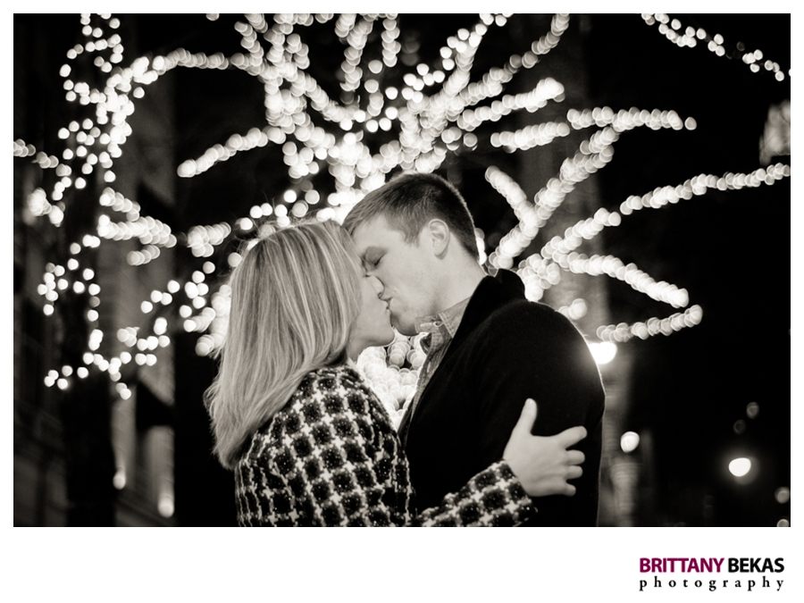 Christmas Holiday Chicago Engagement - Brittany Bekas Photography