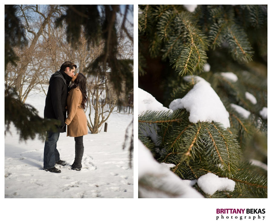 Evanston Lee Street Beach Winter Engagement | Brittany Bekas Photography