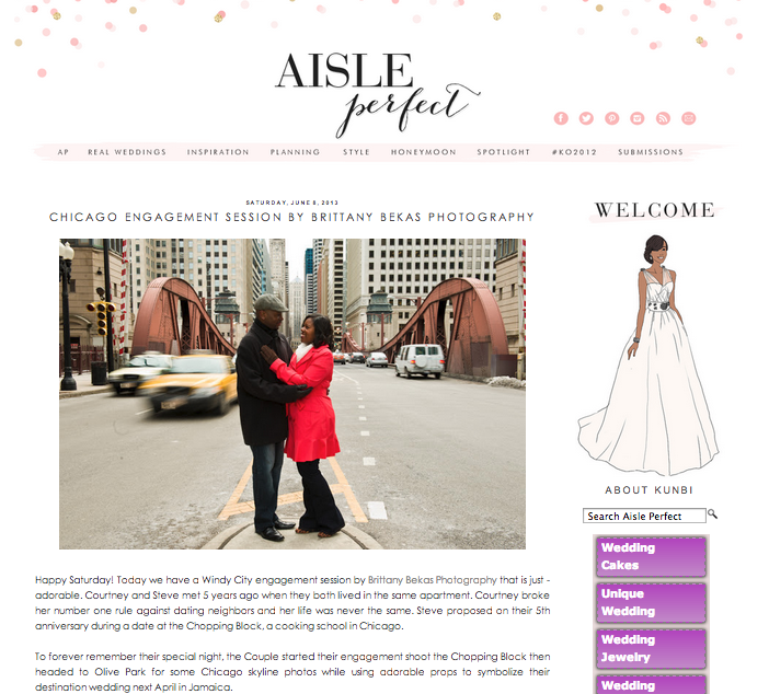 AISLE PERFECT + BRITTANY BEKAS PHOTOGRAPHY | CHICAGO ENGAGEMENT SESSION FEATURED