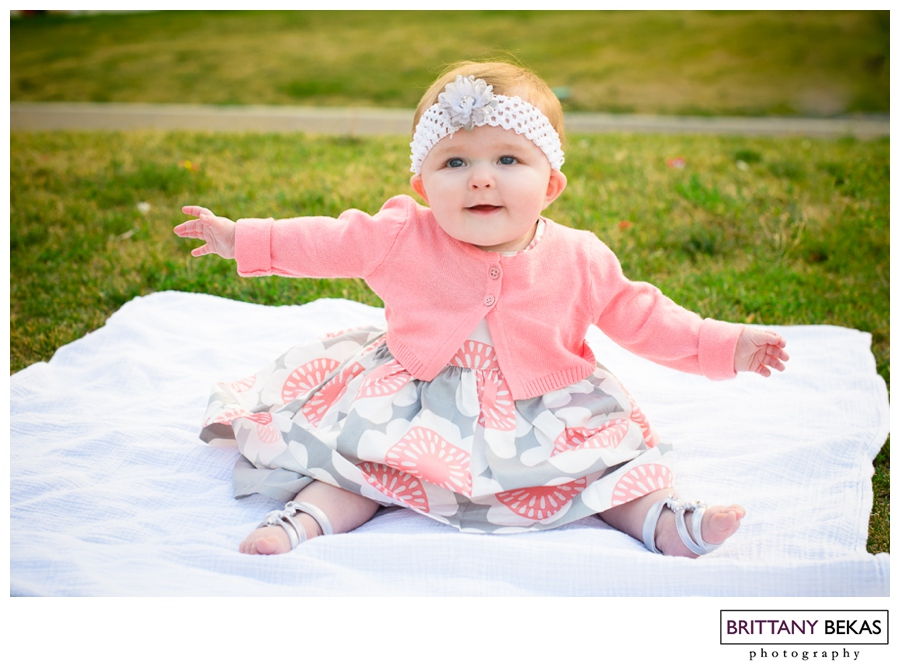 6 Month Chicago Baby // Brittany Bekas Photography // Chicago lifestyle photographer