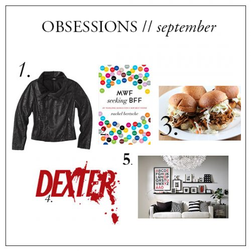 OBSESSIONS // SEPTEMBER
