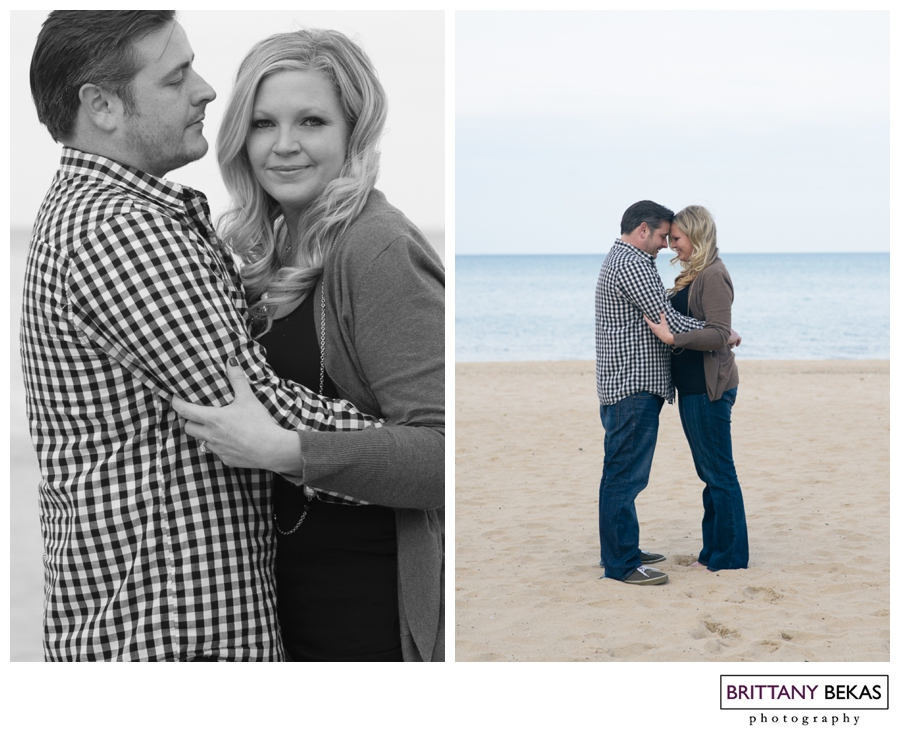 Oak Street Beach Chicago Engagement // Brittany Bekas Photography // Chicago + destination wedding and lifestyle photographer