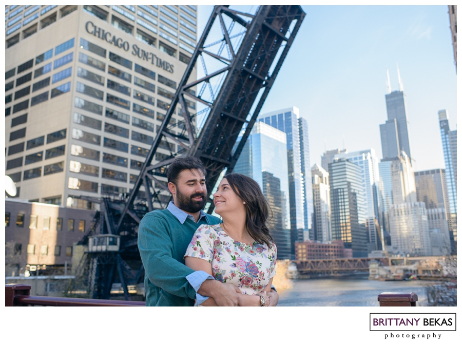 2013-11-21_0033Kinzie Street Bridge Chicago Engagement // Brittany Bekas Photography // Chicago + destination wedding photographer