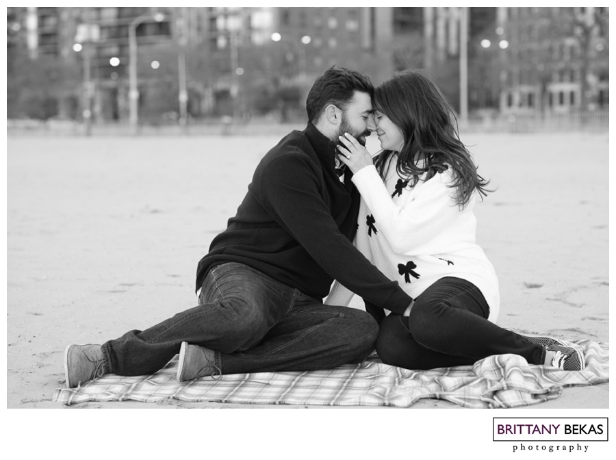 Kinzie Street Bridge + Oak Street Beach Chicago Engagement// Brittany Bekas Photography // Chicago + destination wedding photographer