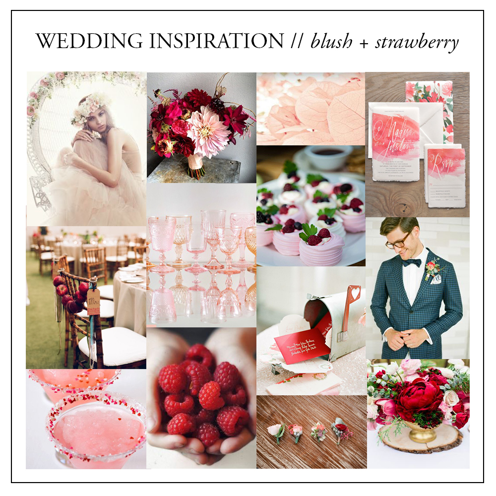 wedding color inspiration // blush pink and strawberry red // brittany bekas photography