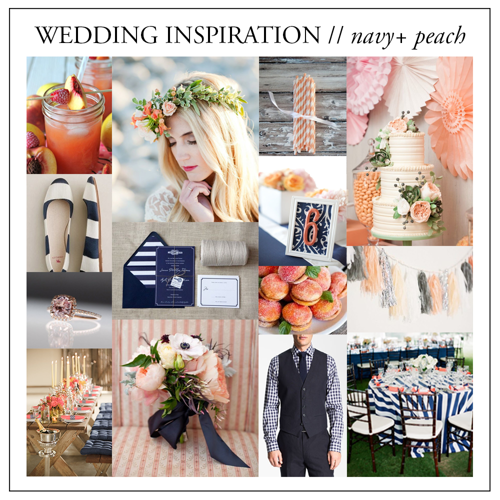 wedding inspiration - peach + navy // brittany bekas photography - www.brittanybekas.com // wedding and lifestyle photographer based in chicago, illinois