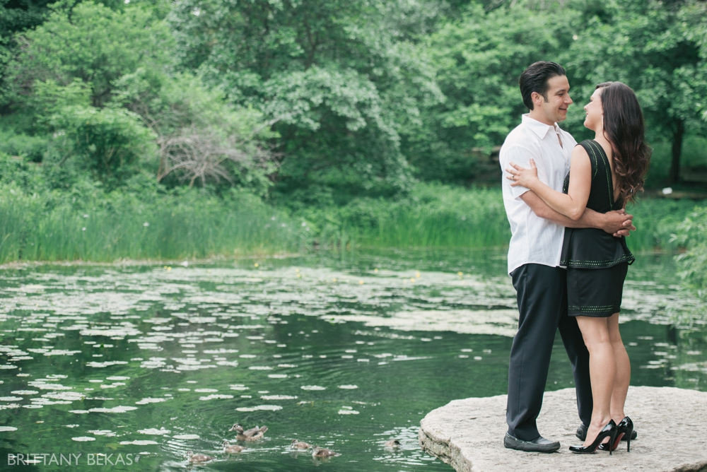 Alfred Caldwell Lily Pool Chicago Engagement Photos - Brittany Bekas Photography_0008
