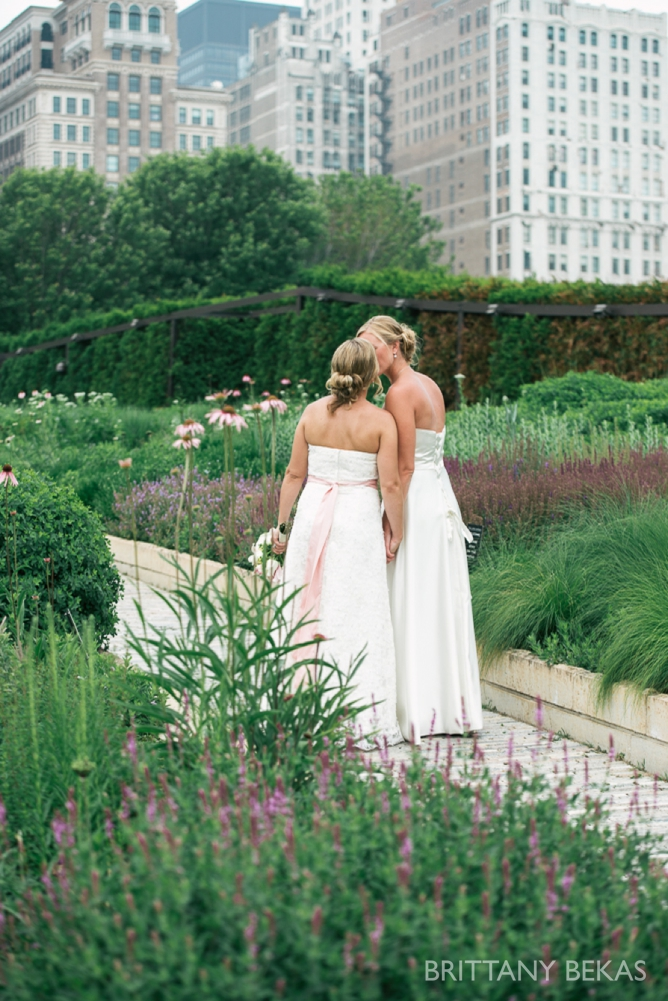 Kinzie Street Bridge Millenium Park Gay Wedding Photos_0001
