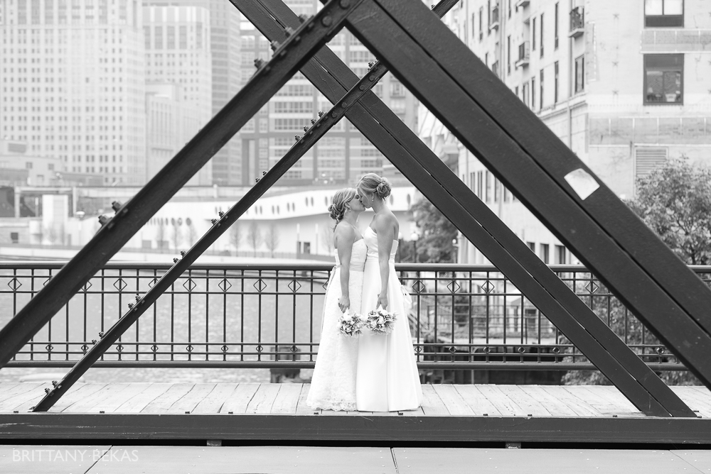 Kinzie Street Bridge Millenium Park Gay Wedding Photos_0009