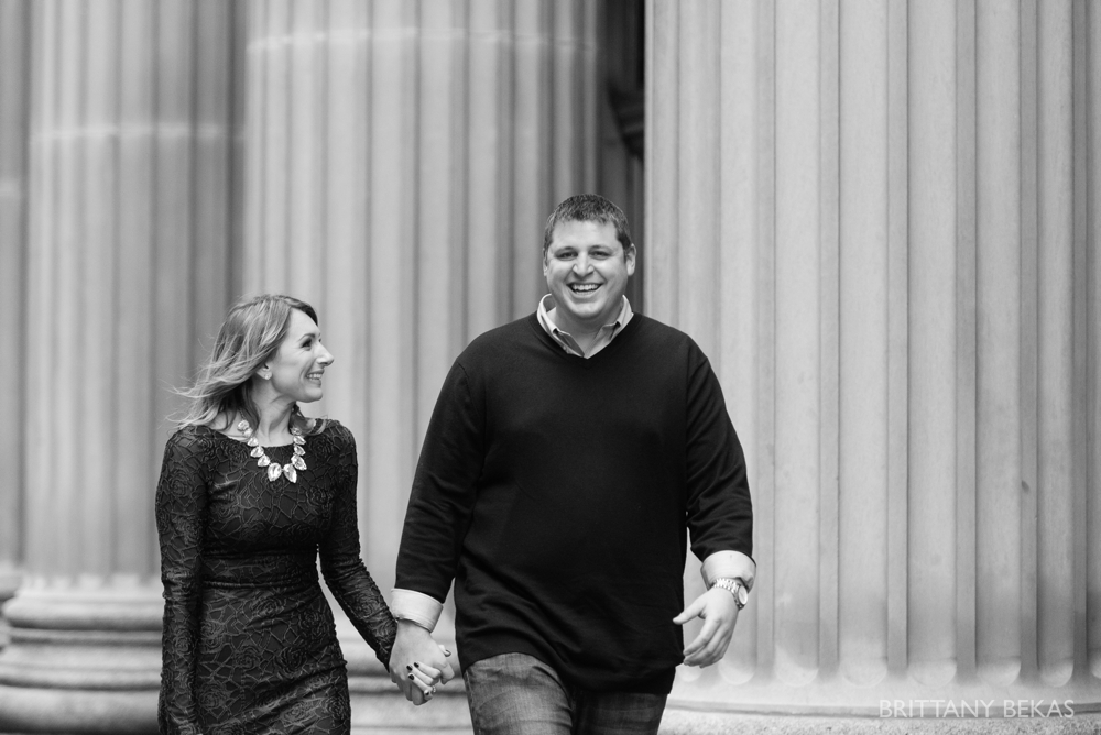 Chicago Board of Trade Lasalle Street Bridge Engagement Photos_0005