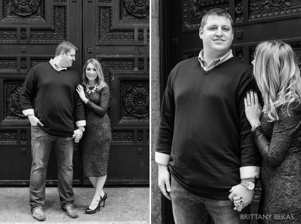 Chicago Board of Trade Lasalle Street Bridge Engagement Photos_0007