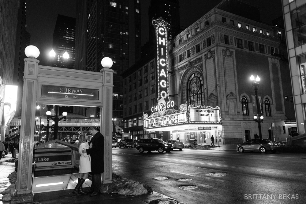 Chicago Board of Trade Lasalle Street Bridge Engagement Photos_0008