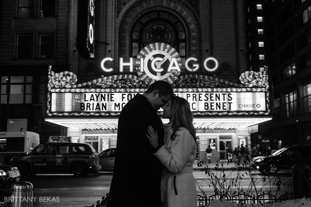 Chicago Board of Trade Lasalle Street Bridge Engagement Photos_0009