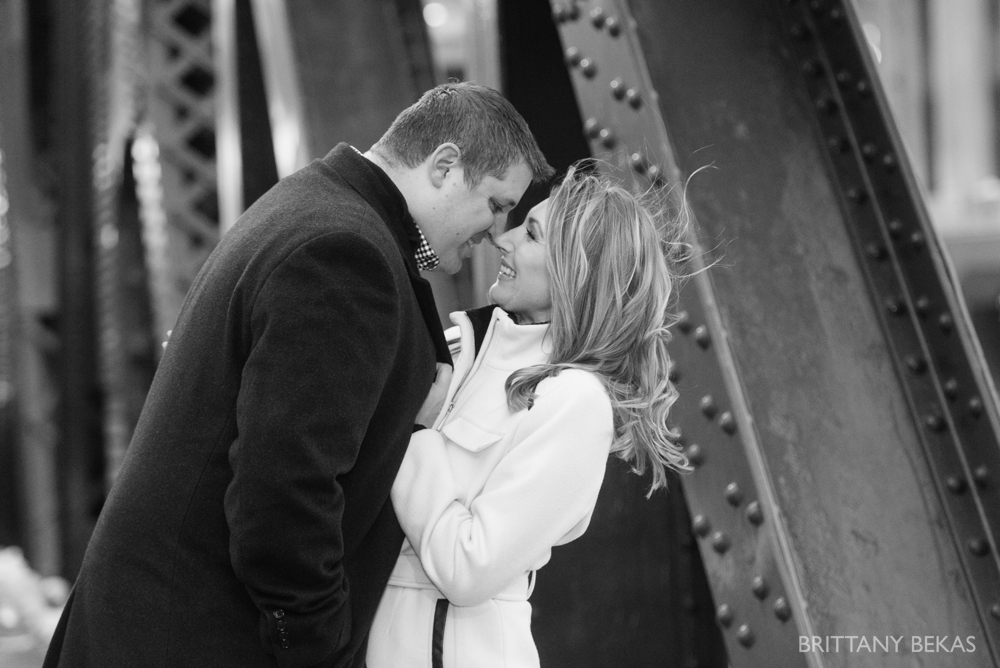 Chicago Board of Trade Lasalle Street Bridge Engagement Photos_0010