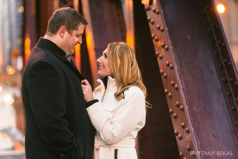 Chicago Board of Trade Lasalle Street Bridge Engagement Photos_0011