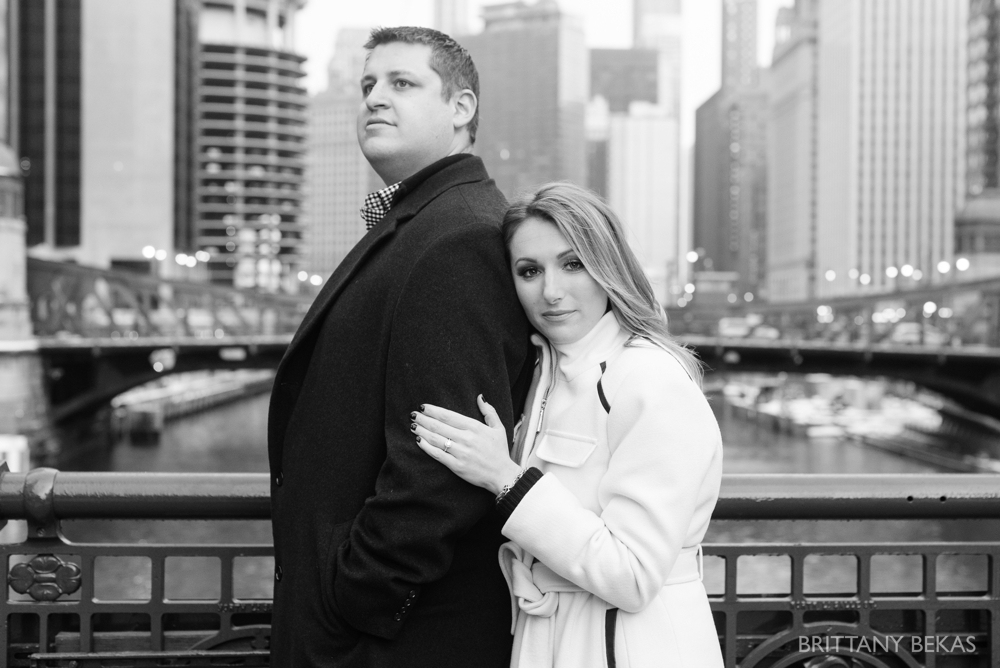 Chicago Board of Trade Lasalle Street Bridge Engagement Photos_0018