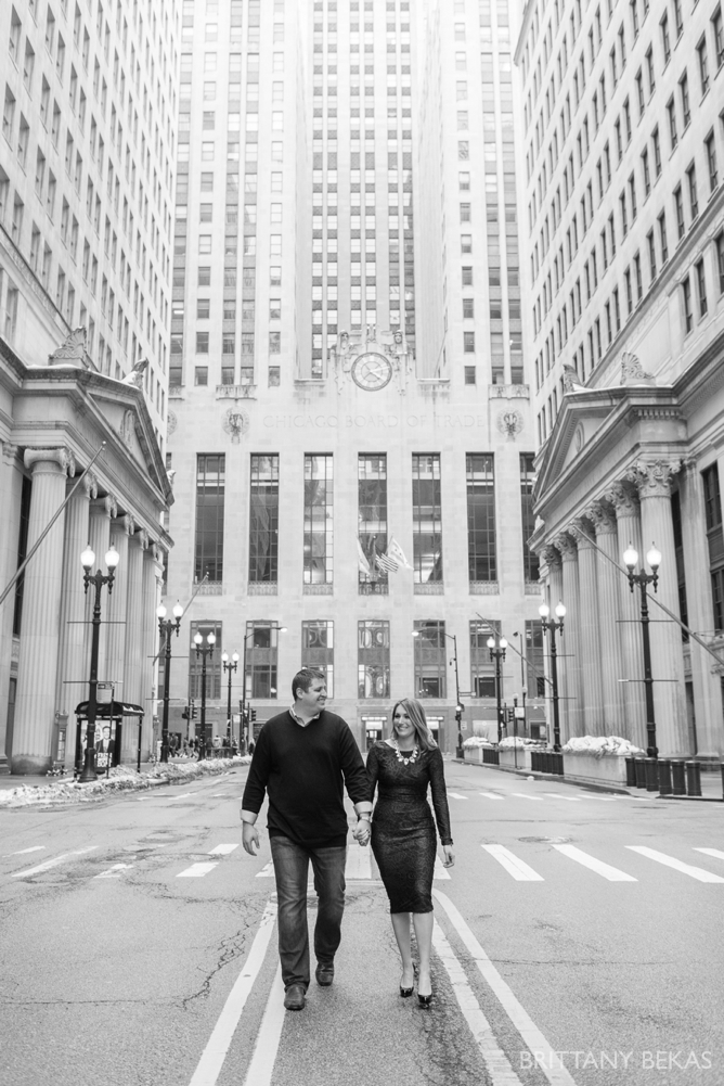 Chicago Board of Trade Lasalle Street Bridge Engagement Photos_0020