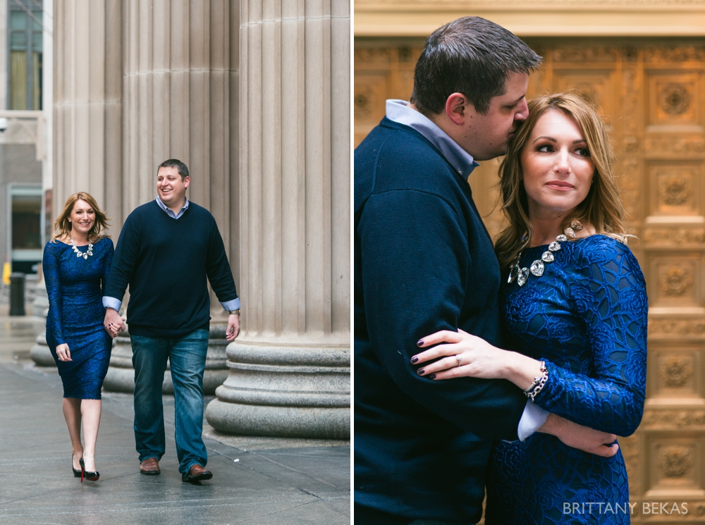 Chicago Board of Trade Lasalle Street Bridge Engagement Photos_0021
