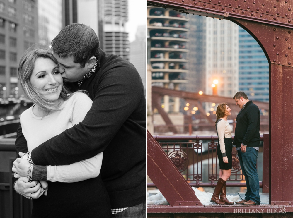 Chicago Board of Trade Lasalle Street Bridge Engagement Photos_0022