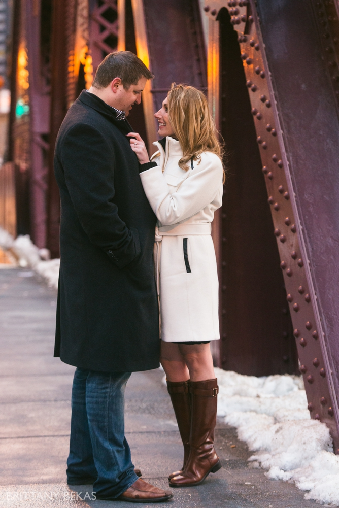 Chicago Board of Trade Lasalle Street Bridge Engagement Photos_0023