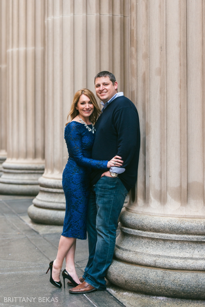 Chicago Board of Trade Lasalle Street Bridge Engagement Photos_0025