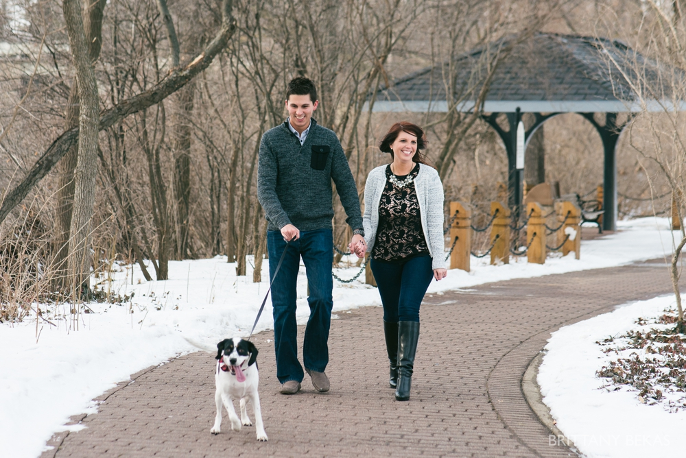 Naperville Riverwalk Engagement Photos