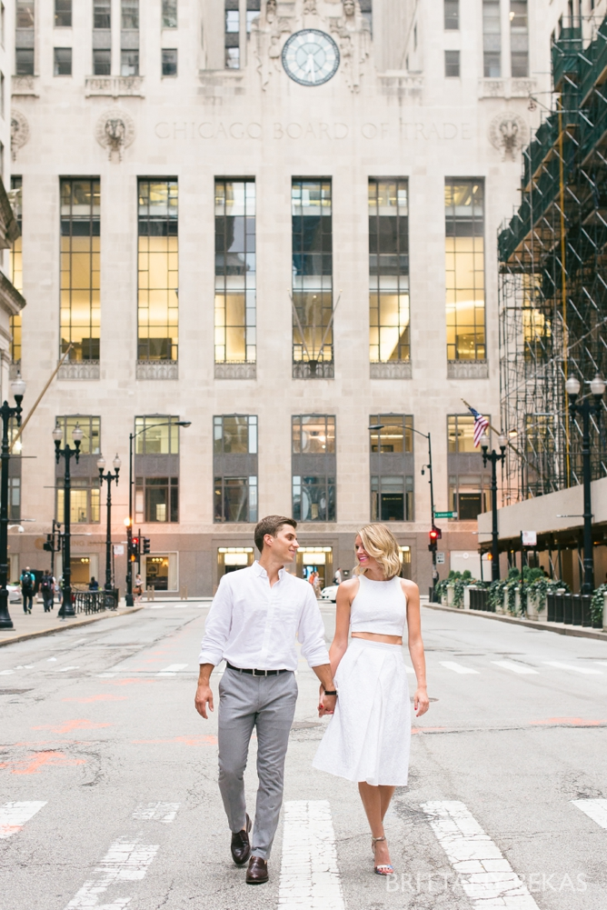 Chicago Engagement - Chicago Board of Trade Engagement Photos - Brittany Bekas Photography_0004