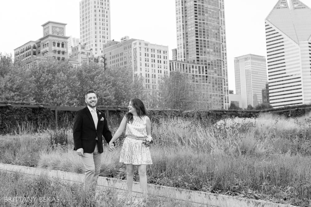 Chicago Elopement - Chicago City Hall + Lurie Garden Elopement Photos_0008
