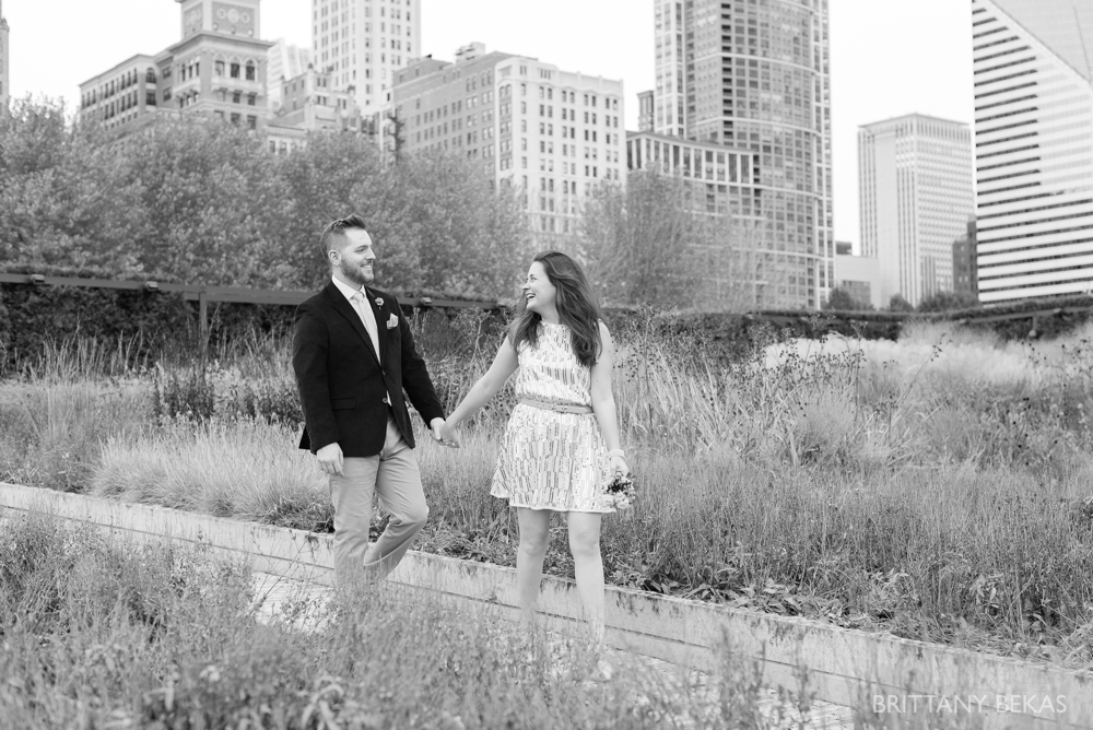Chicago Elopement - Chicago City Hall + Lurie Garden Elopement Photos_0012