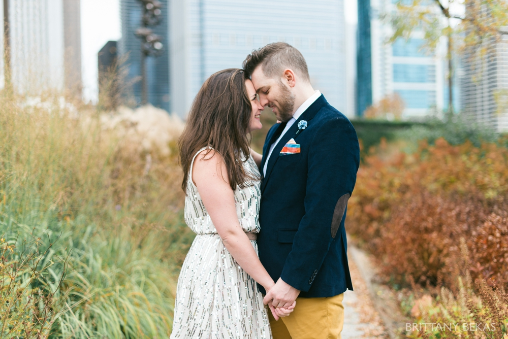 Chicago Elopement - Chicago City Hall + Lurie Garden Elopement Photos_0014