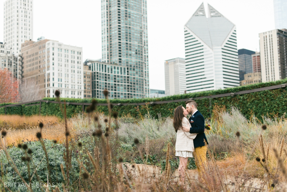 Chicago Elopement - Chicago City Hall + Lurie Garden Elopement Photos_0016
