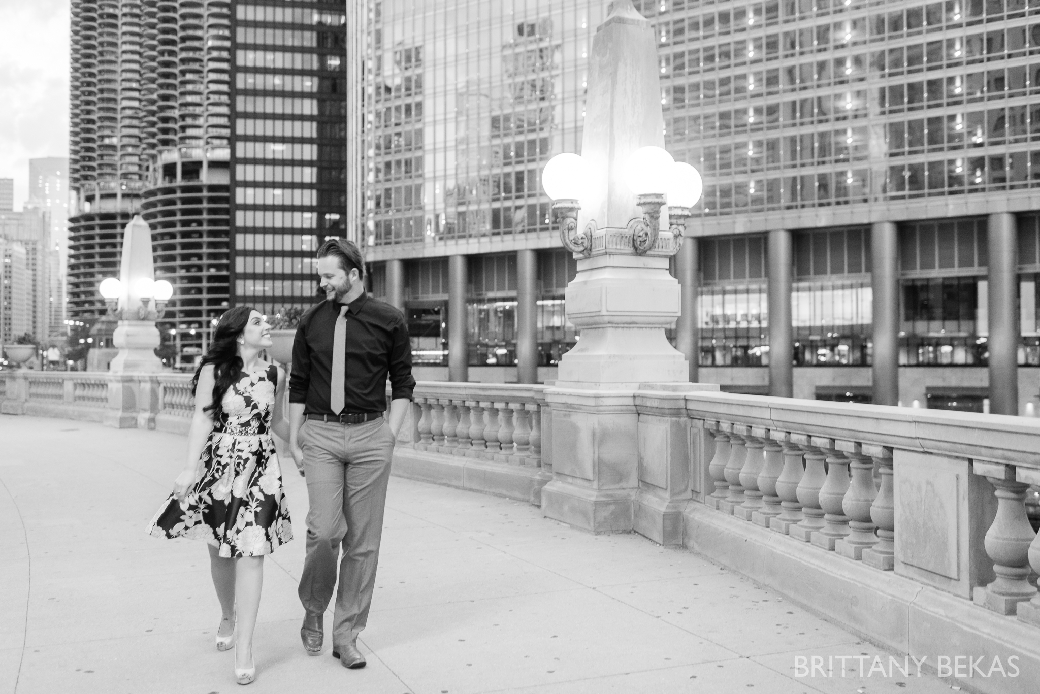 Chicago Riverwalk Engagement Photos - Brittany Bekas Photography_0010