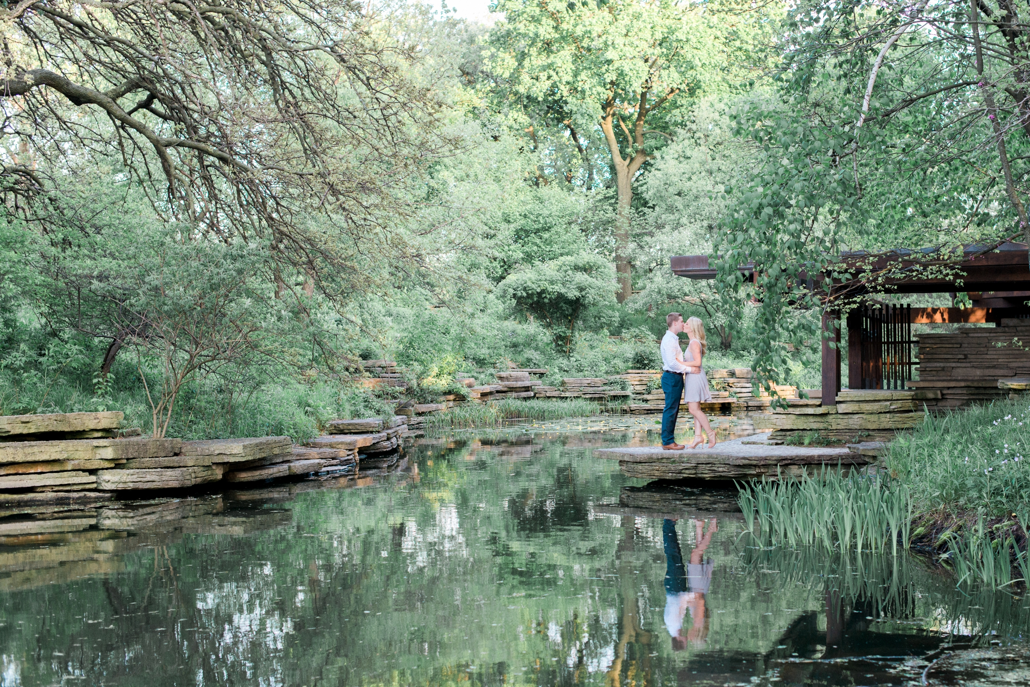 lincoln park alfred caldwell lily pool engagement photos