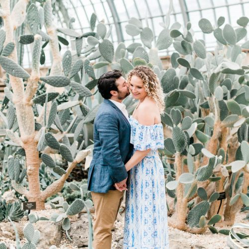 GARFIELD PARK CONSERVATORY CHICAGO ENGAGEMENT PHOTOS // roz + gary