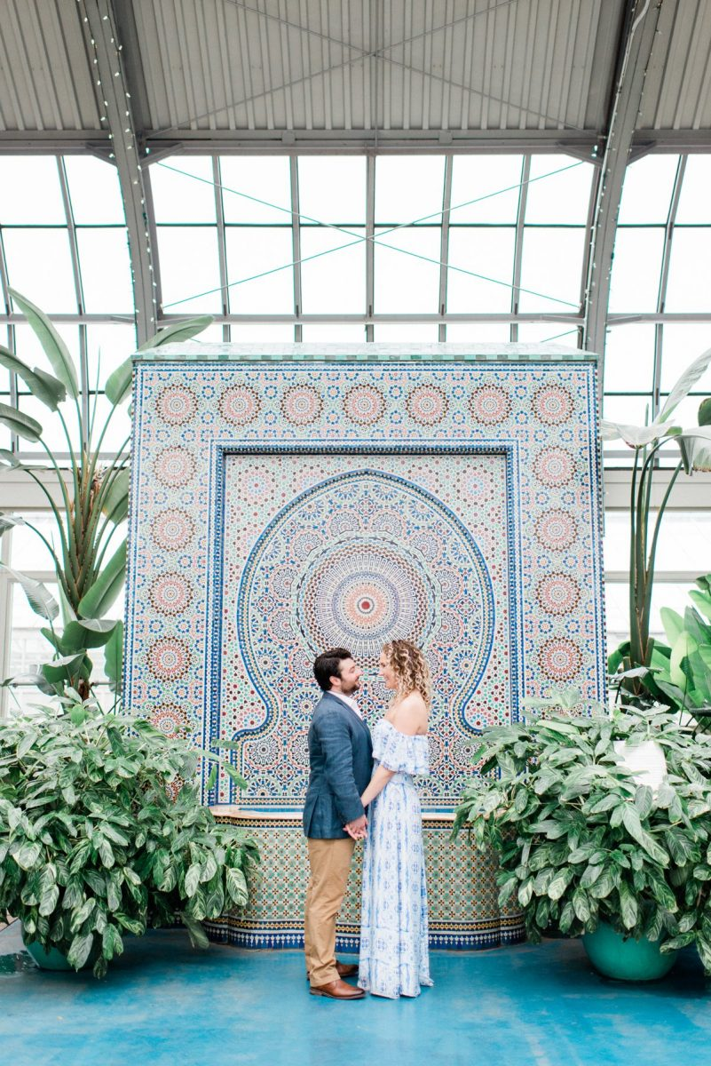 Garfield Park Conservatory Chicago Engagement Photos