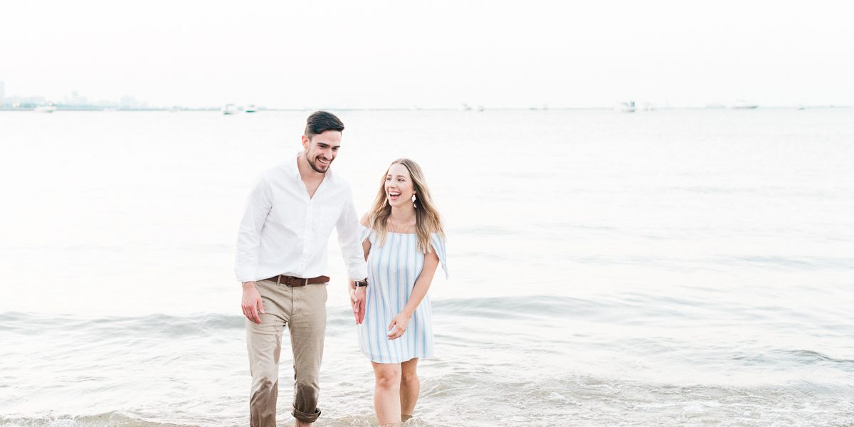 Fine Art Chicago Engagement Photos at Olive Park // Tanya + Austin