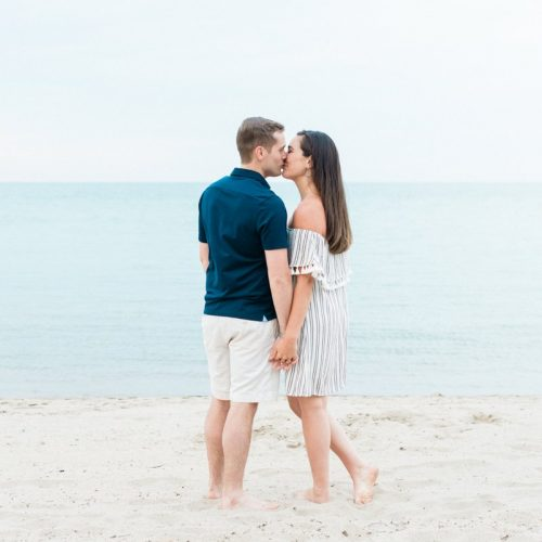 Lake Forest Beach Engagement Photos // Maggie + Nick