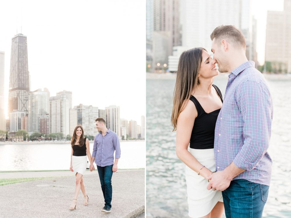 chicago engagement photos at olive park