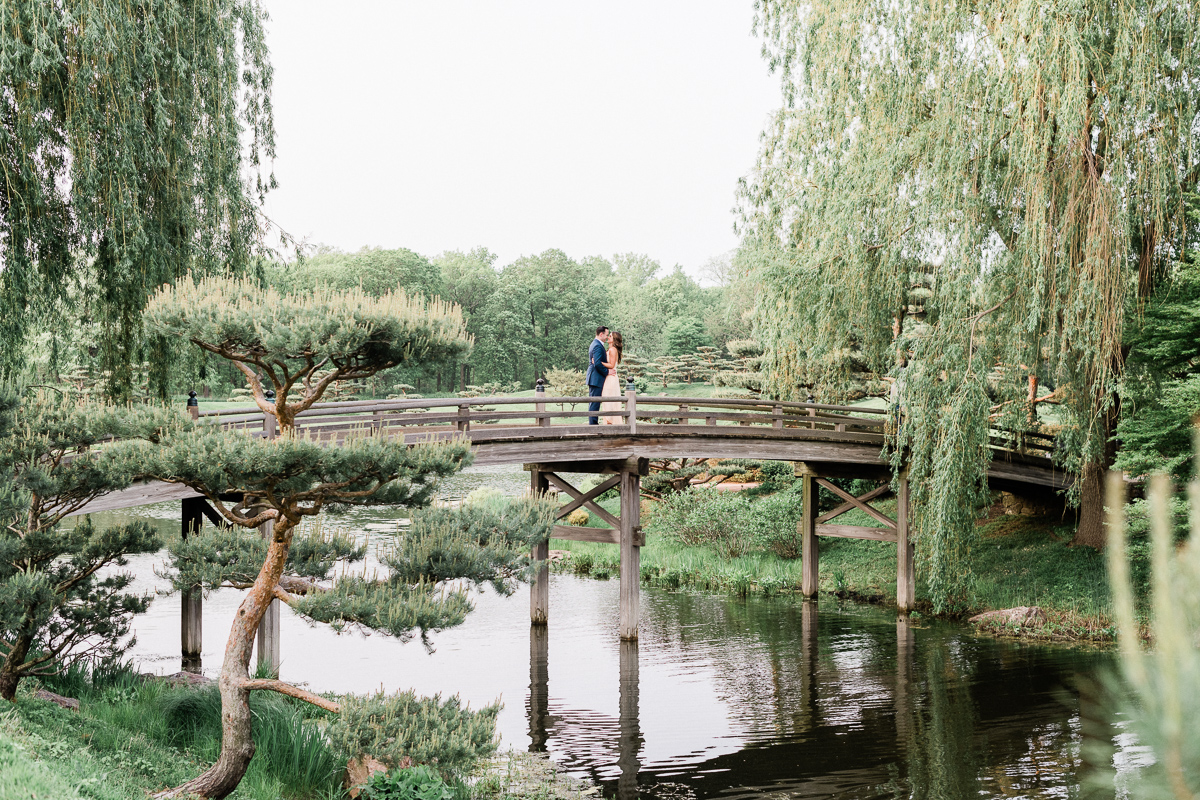 Chicago Botanic Garden Engagement Photos Rachel Chris