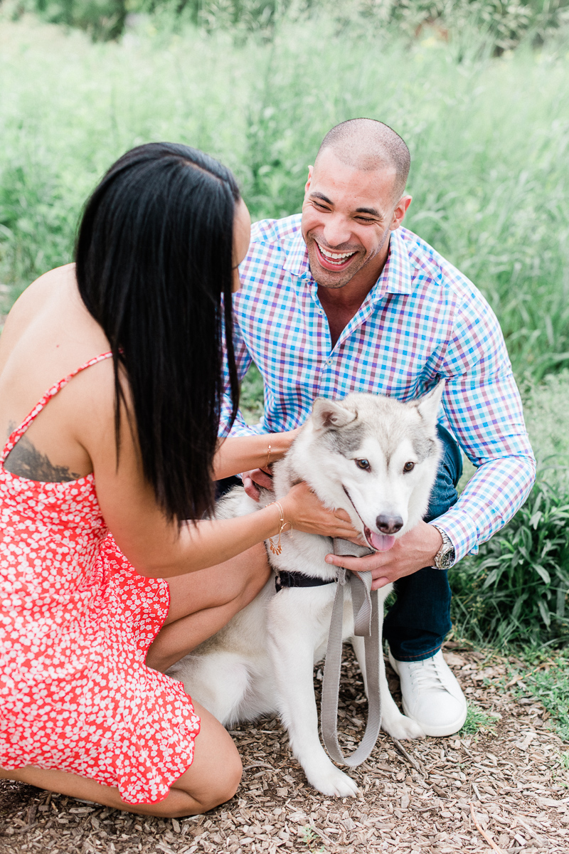 Chicago Engagement Photos with Dogs - Dog Friendly Engagement Photo locations