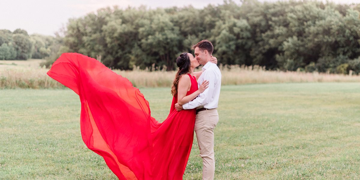 Fine Art Chicago Engagement Photos at Busse Woods