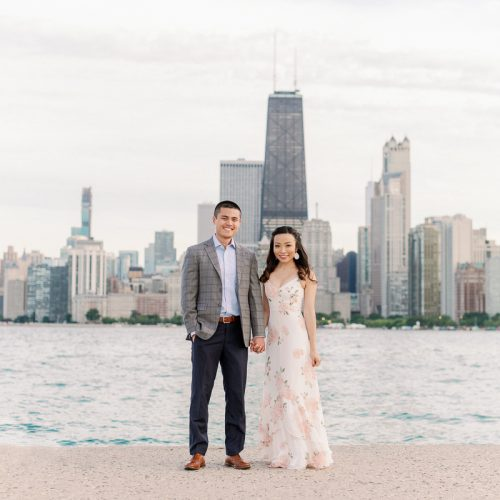 Fine Art Chicago Engagement Photographer // North Avenue Beach Engagement Photos - Joyce + Brandon