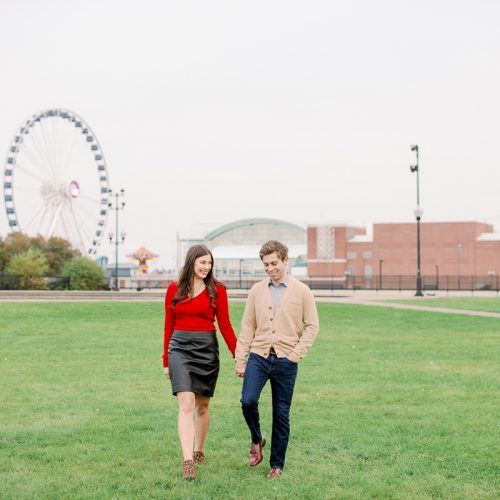 Fine Art Chicago Engagement Photographer // Olive Park Engagement Photos