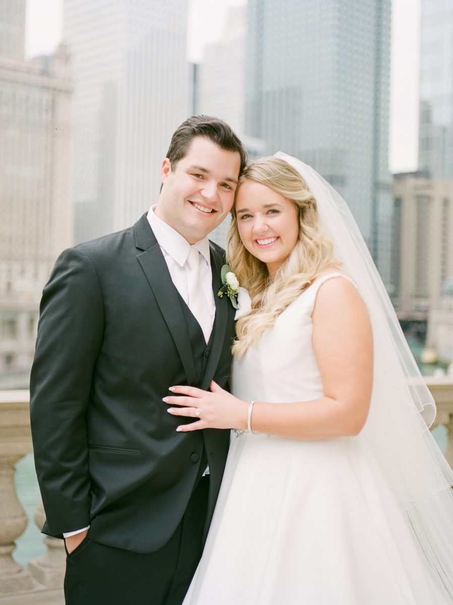 Winter Wrigley Building Wedding Photos