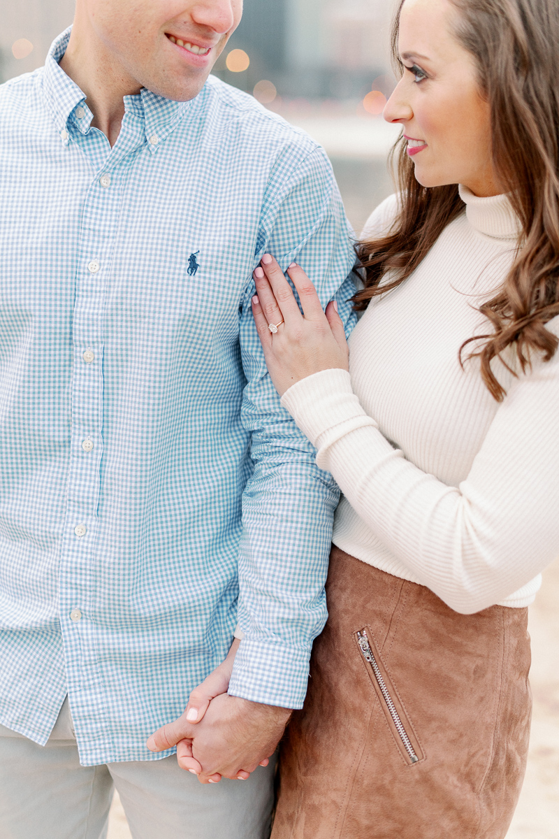 Light and Airy Chicago Engagement Photographer - Olive Park Engagement Photos