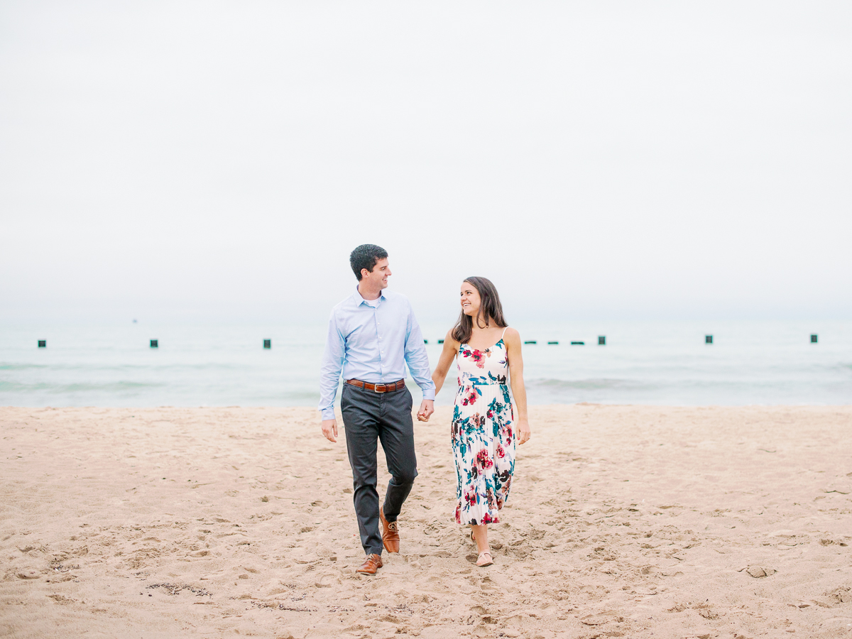 North Avenue Beach Chicago Engagement Photographer