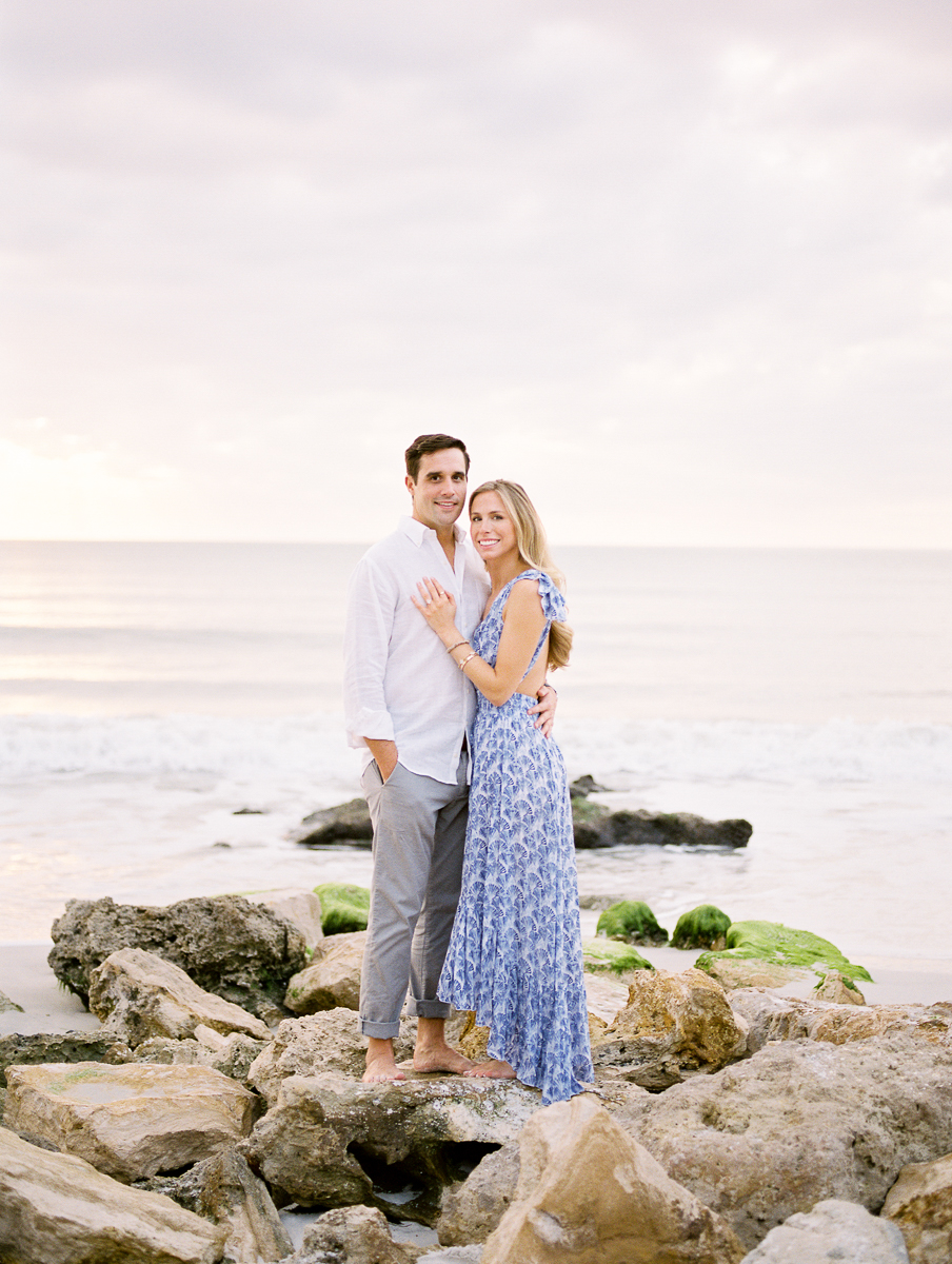 Light and Airy Naples Seagate Beach Engagement Photographer