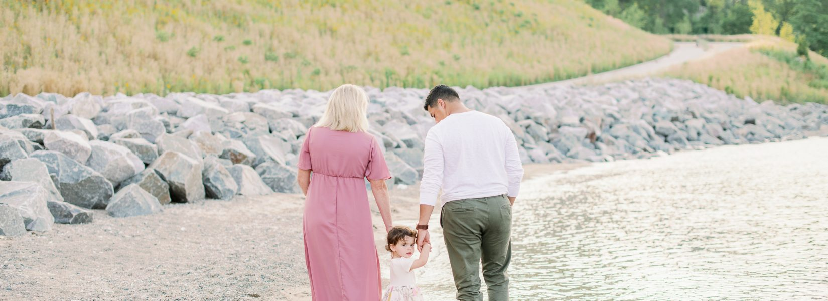 Lake Forest Beach Family Maternity Photos